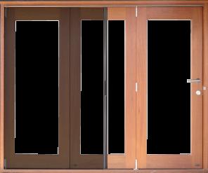 Bi fold door design with retractable screen the door for Bi fold screen doors